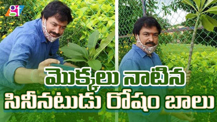 Actor Rosham Balu Planted Sapling today